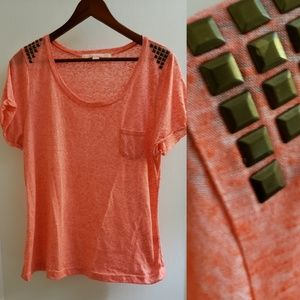 Rebellios One | XL fitted burnout studded tshirt